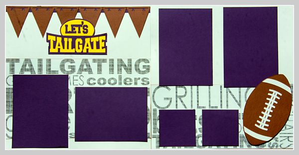 Lets Tailgate PURPLE & GOLD