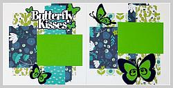 Butterfly Kisses (Blue & Green)